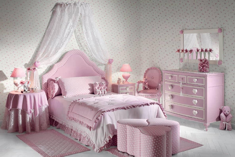 Розовая спальня - мечта каждой девочки