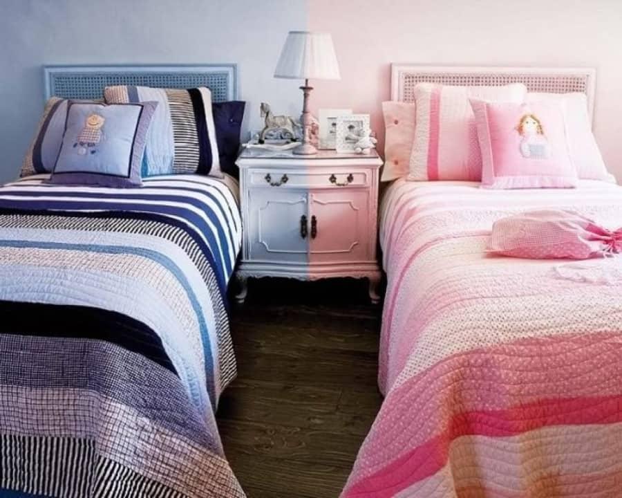 Неординарная, но вполне разумная идея честного разделения комнаты для двух детей