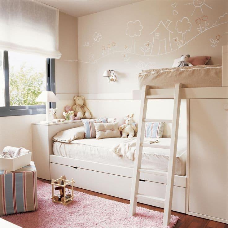 Романтический образ комнаты малышки в нежном кремовом цвете