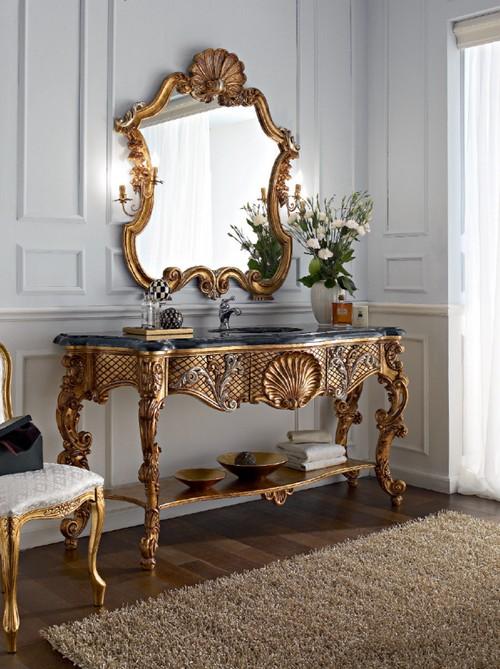 Консольный стол с зеркалом