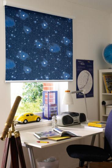 желтая машинка и телескоп
