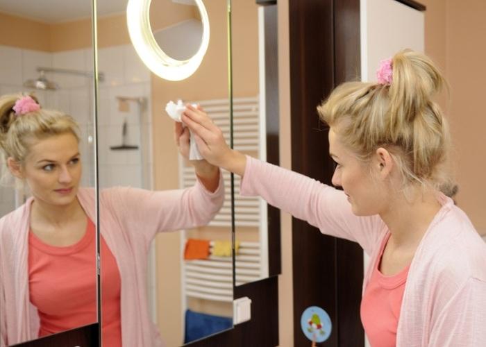Правильное отражение на чистом зеркале