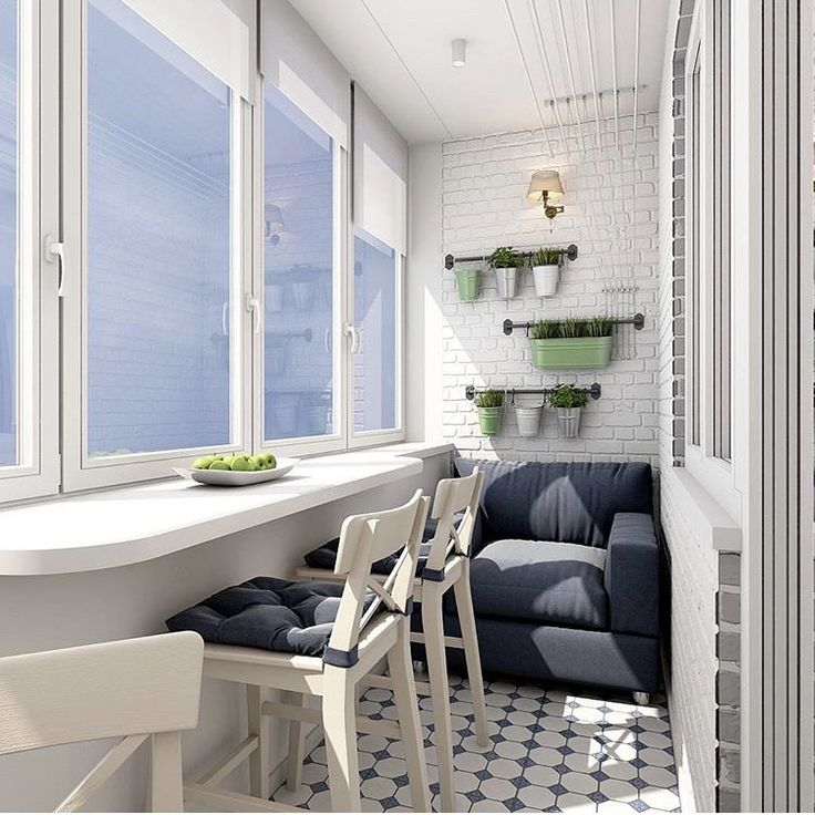 Современная комната на балконе