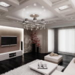современная гостиная комната