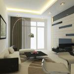 игра цвета в интерьере современной гостиной комнаты