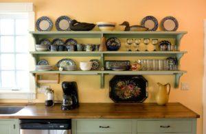 настенные полки в кухню своими руками