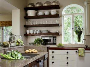 полки в кухню в стиле кантри