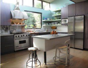 полки в кухню в стиле хай-тек