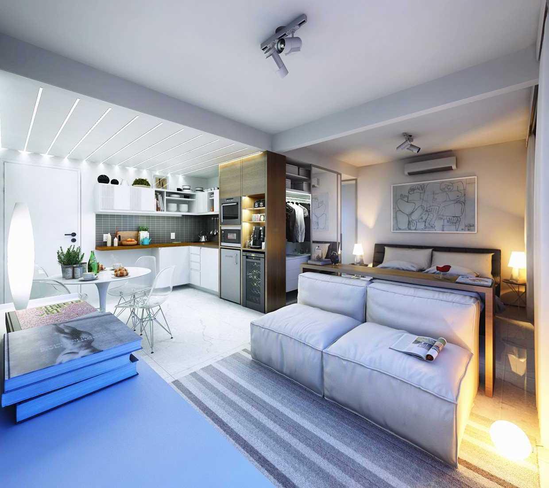 Элегантный интерьер квартиры в светлых тонах - является наиболее выигрышным вариантом для небольшого помещения