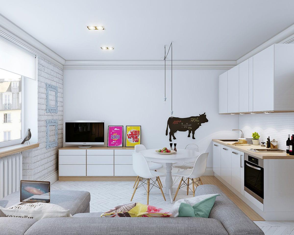 Объединив кухню и гостиную в одно помещение, вы добьетесь максимально открытого и удобного пространства