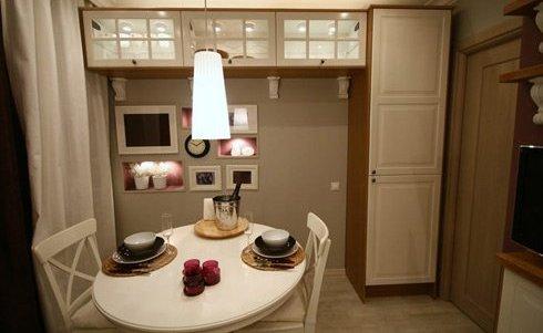 Стол для маленькой кухни с круглой столешницей