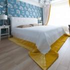 современные покрывала на кровать фото