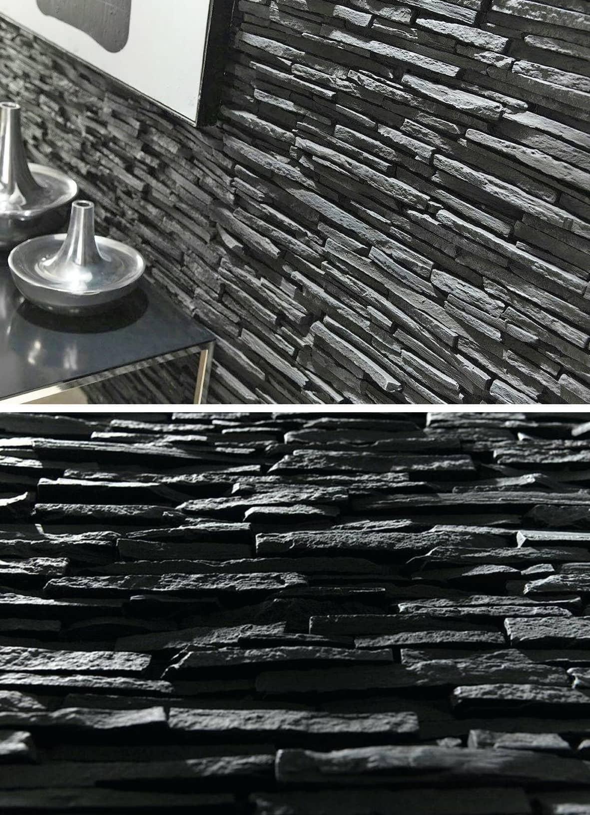 Простота и лаконичность - главная отличительная особенность базальтового камня