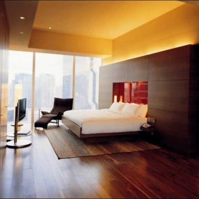 Спальня темного оттенка