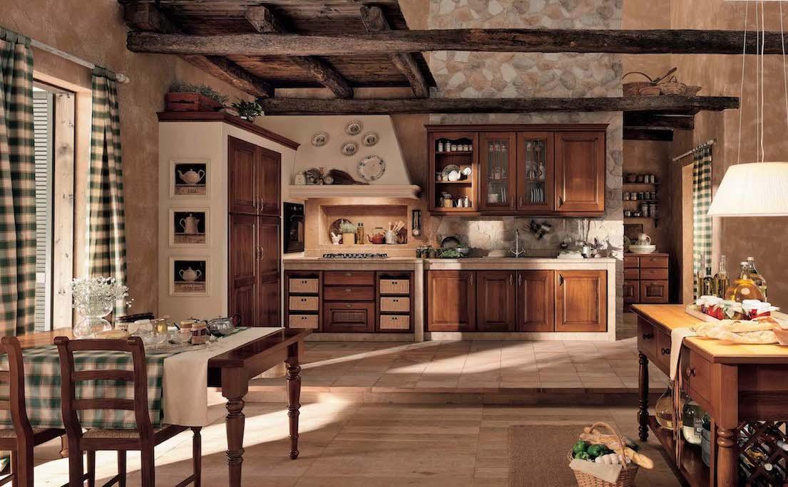 Дерево не любит ярких красок, поэтому при оформлении интерьера кухни, этот момент необходимо учесть. Все должно выглядеть строго и лаконично