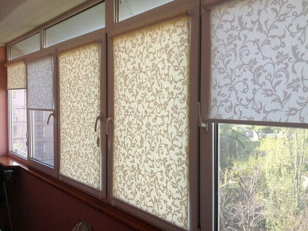 рулонные шторы с коробом
