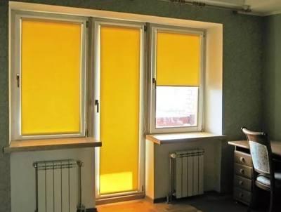 Рулонные шторы на балконную дверь №2