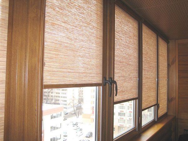 тканевые рулонные шторы на балкон