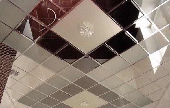 Плитка потолочная с зеркальным эффектом