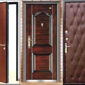 Виды отделки металлических дверей
