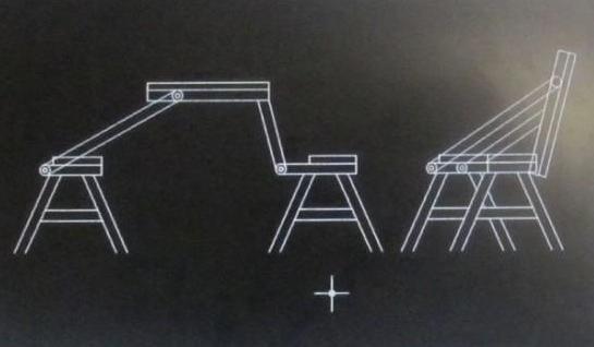 Скамейка трансформер