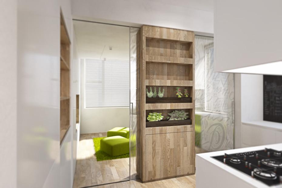 Дизайн квартиры трансформер: маленькая кухня
