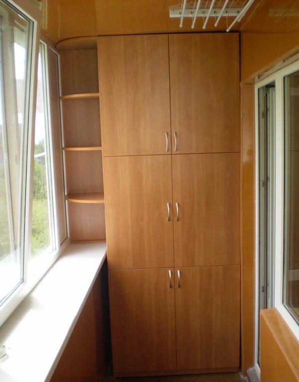 Шкаф на балконе фото как красиво сделать