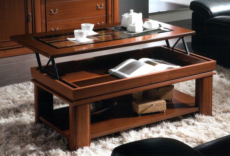 Выдвигающийся стол-трансформер для гостиной