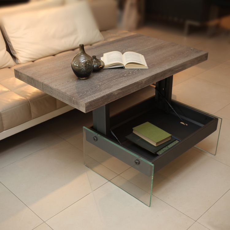 Журнальный столик - трансформер с ящиком для хранения под столешницей
