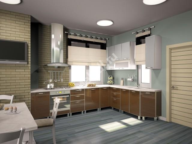 Кухонный гарнитур «Джаз» 2200*3200 ПЛАСТИК