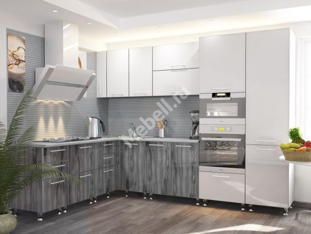 Кухонный гарнитур «Джаз» 2000х2900 ПЛАСТИК