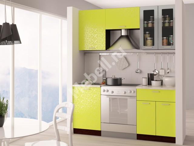Недорогая кухня с фасдами покрытыми плёнкой ПВХ