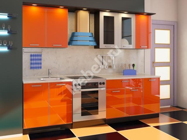Кухня популярной модели Джаз с фасадами из пластика