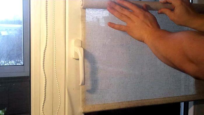Сборка Рулонной Шторы На Пластиковое Окно