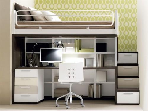 Двухуровневая кровать с рабочим местом