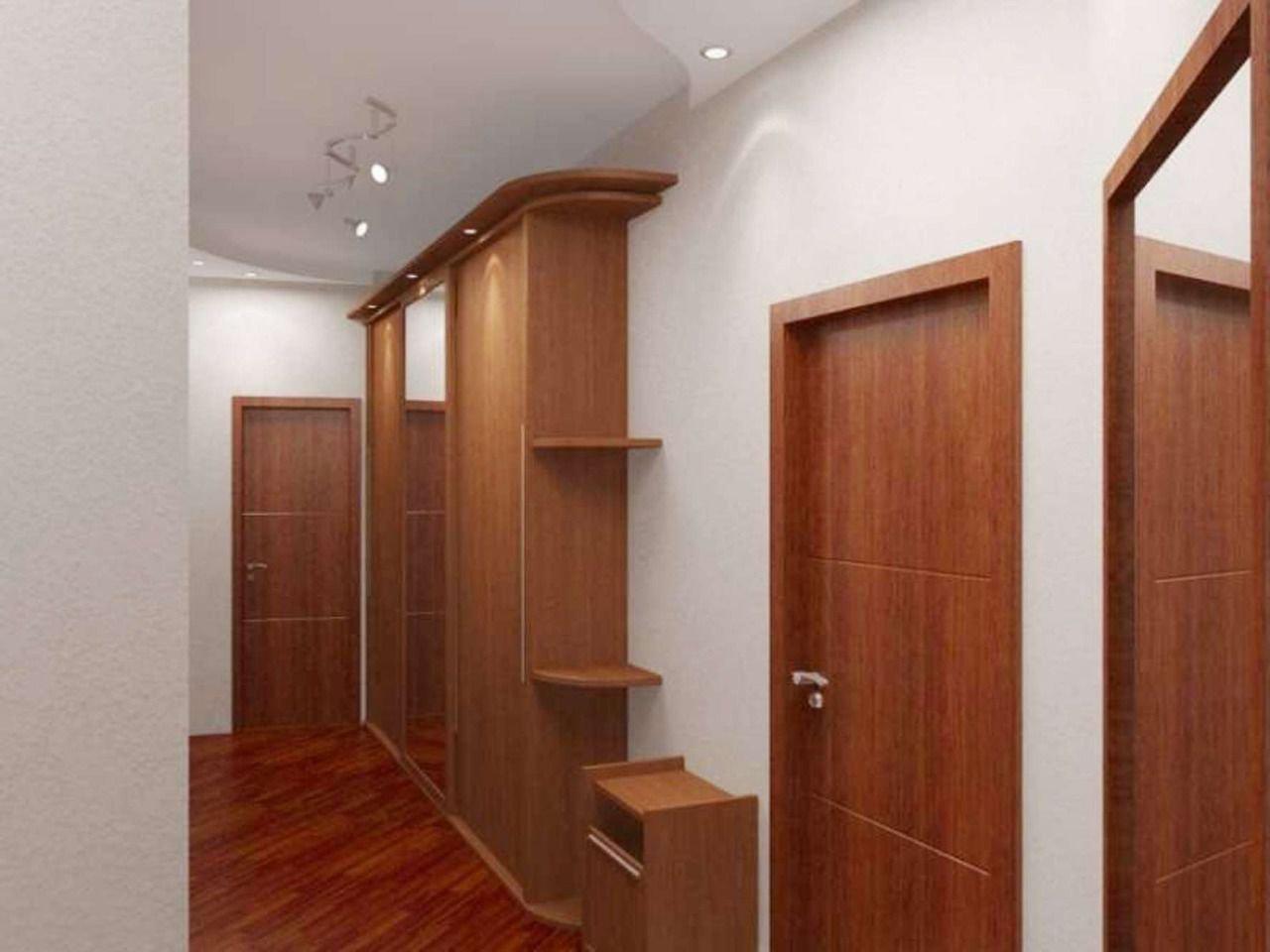 функциональный дизайн прихожей с узким коридором