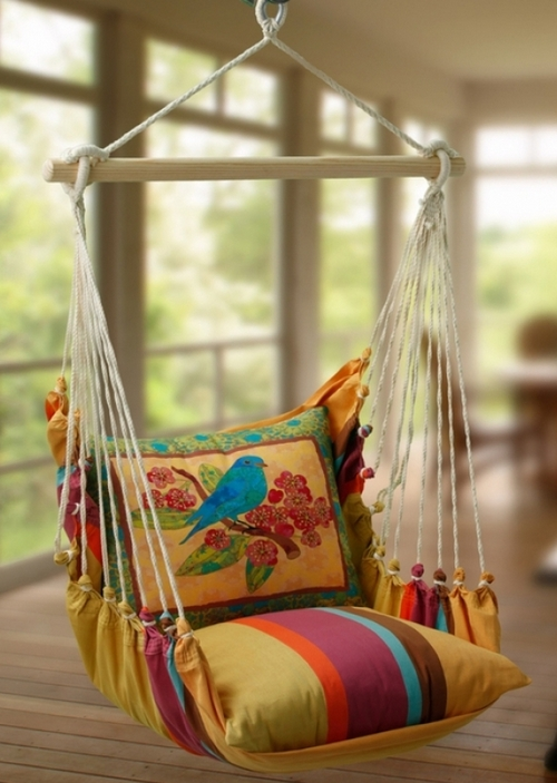 Подвесное кресло-гамак фото