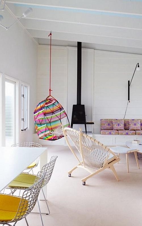Кресла подвесные в современном интерьере