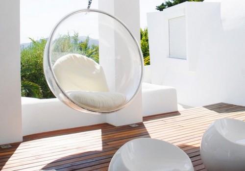 кресло бабл прозрачное подвесное