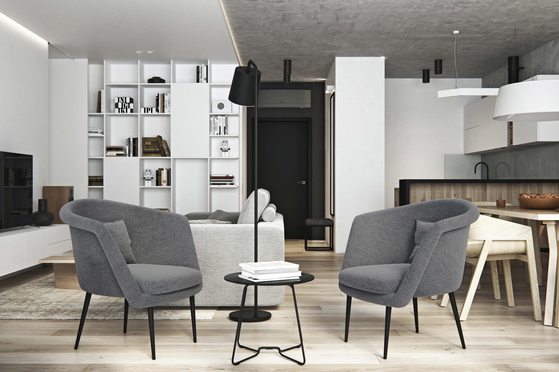дизайн интерьера гостиной geometrium