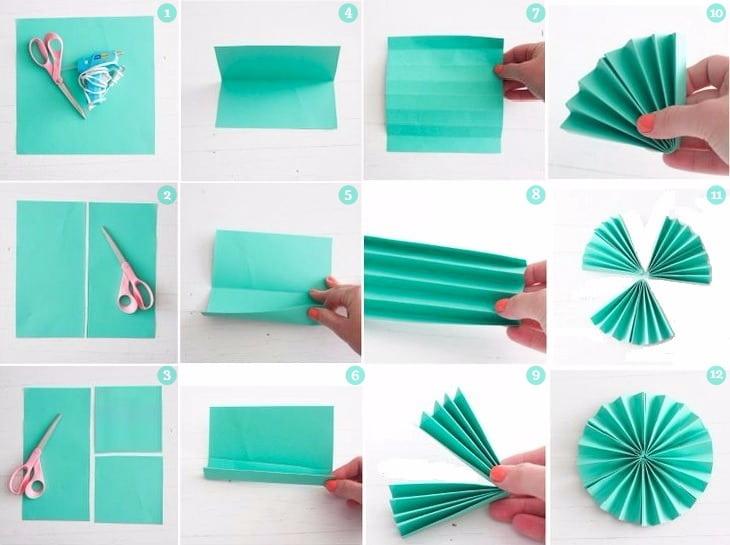 Этапы изготовления цветка из бумажной салфетки
