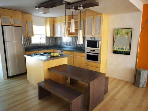 два цвета на кухне