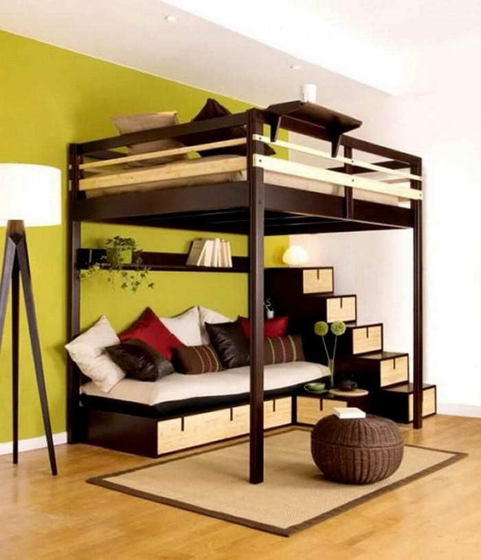 Кровать с двумя спальными местами и ящиками