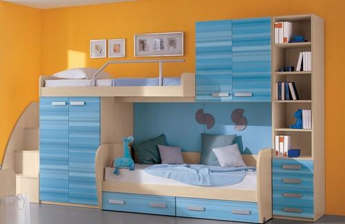 двухъярусные кровати со шкафом