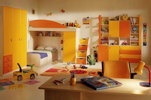 Детская комната с двухъярусной кроватью фото