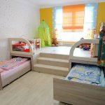Идеи для экономии пространства в маленькой детской