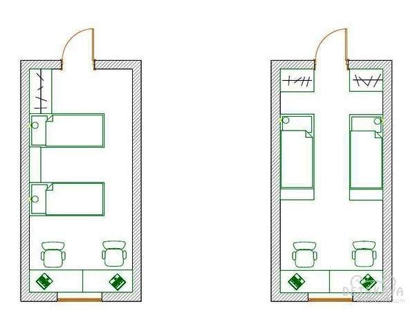 планировка детской комнаты для двоих детей фото
