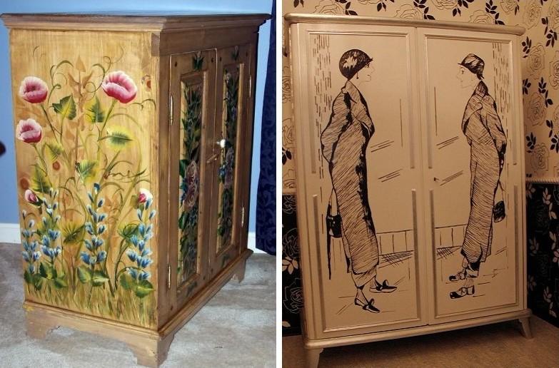 Декупаж шкафа, серванта - Декупаж мебели своими руками