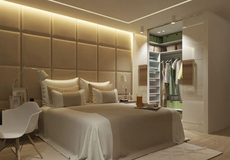 Гардеробная в спальне - Дизайн интерьера