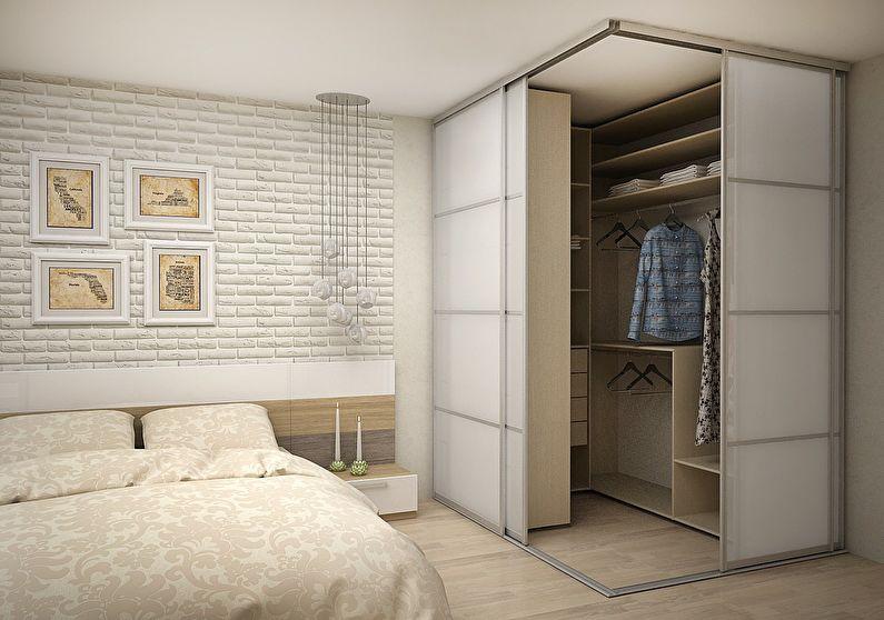 Дизайн гардеробной комнаты - Угловая планировка